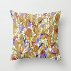 Blooms Fusion I Throw Pillow by SKCreations, LLC - $20.00