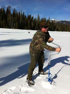 Ice fishing at Marilyn Lake