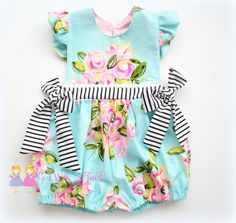 Baby Girls Romper Toddler Romper Spring Outfit by GirlWithATwirl