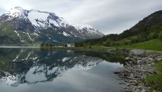 Photo of the naturally gorgeous mountains of the Fjords near Stryn