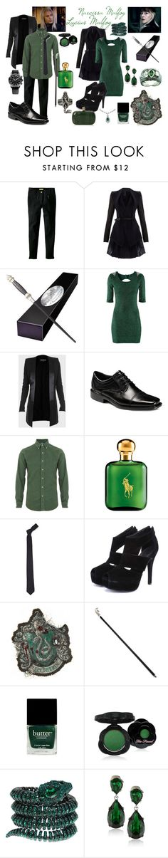 """""""Lucius and Narcissa Malfoy"""" by dvkaty ❤ liked on Polyvore featuring Witty Knitters, Todd Lynn, Radcliffe, H&M, Balmain, Polo Ralph Lauren, Alexander Olch, Butter London, Too Faced Cosmetics and Roberto Cavalli"""