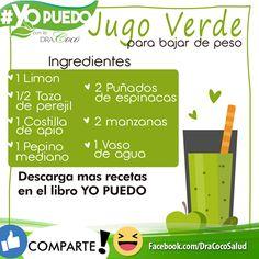 #Jugoverde para #bajardepeso #adelgazar #jugosverdes #detox