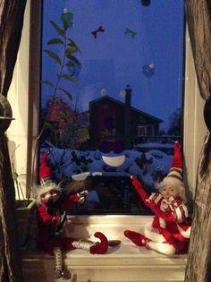 Des collant en gelé dans la fenêtre