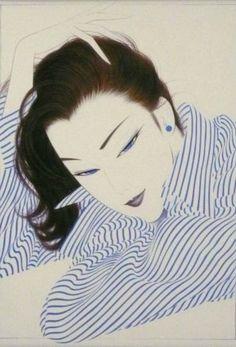 by: Ichiro Tsurato Japanese visual artist, was born in 1954 in the city of Hondo in Kumamoto Prefecture, Ichiro Tsuruta grew up in Kyushu's Amakusa Region, Japan. Kumamoto, Illustration Art Nouveau, Japanese Illustration, Art Pop, Amakusa, Japan Painting, Art Asiatique, Japanese Prints, Japan Art