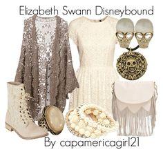 Elizabeth Swann Disneybound by capamericagirl21