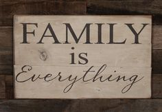 Everything. Large Wood Sign - Family is Everything - Subway Sign