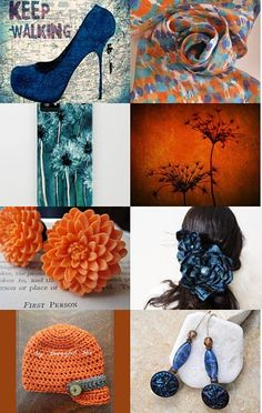 In a world of orange and blue. by Peacefully Perfect -love the dandelion piece