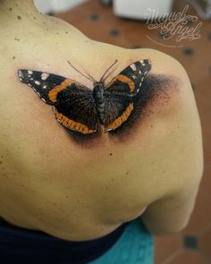 Red Admiral butterfly tattoo | by Miguel Angel tattoo