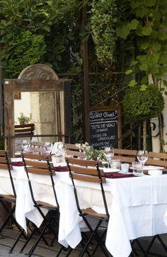 Provence bistro scene, Mougins