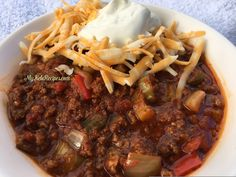 Low carb, keto approved chili is the best! My kids loved this recipe because they really like chili with no beans! Great to feed a crowd!