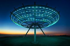 The Panopticon Halo is 18m in diameter and constructed on a hill above Haslingden in the Rossendale Valley in Lancashire.