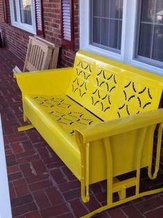 Metal porch glider