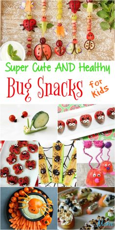 Why not make 'healthy' fun with these super cute and healthy Bug Snacks? These fun snacks are not only cute and healthy but easy to make. Bug Snacks, Easy Snacks, Healthy Snacks, Snacks Recipes, Healthy Recipes, Xmas Recipes, Kid Recipes, Healthy Chef, Vegetarian Meals For Kids