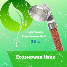 Shower with natural minerals, save water, boost water pressure. More information in link below! Eco Shower Head, Shower Heads, Natural Mineral Water, Pop Up Window, Ancient Beauty, Mineral Stone, Take A Shower, Water Treatment, Save Water