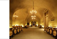 Splendor in Ruins Caves, Napa Style, Space Architecture, Wine And Beer, Wine And Spirits, Vaulting, Wine Cellar, Wine Country, Old Things