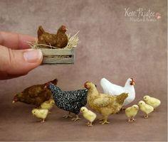 miniature chikens