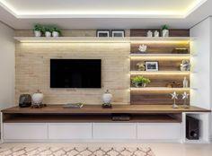 Tv Unit Interior Design, Tv Unit Furniture Design, Modern Home Interior Design, Home Room Design, House Design, Living Room Wall Units, Living Room Tv Unit Designs, Home Living Room, Modern Tv Unit Designs