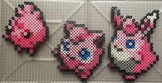 #039-#040, #174 Jigglypuff Family - Pokemon perler beads by TehMorrison
