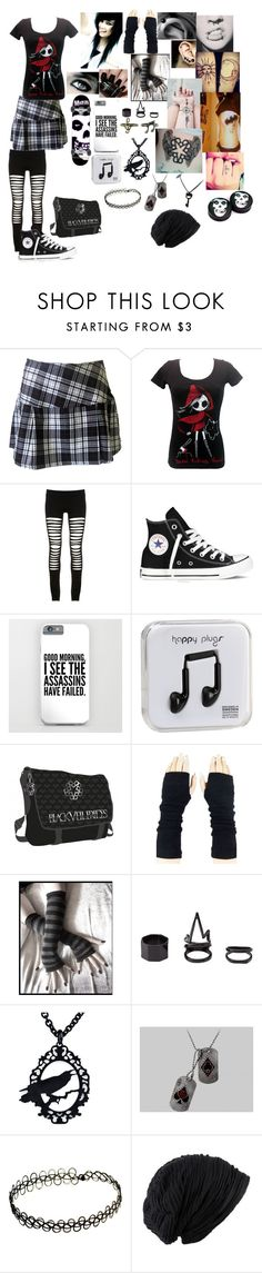 """""""Your Gonna Go Far, Kid - The Offspring"""" by hold-on-till-may-lca ❤ liked on Polyvore featuring Maurie & Eve, Converse, Nails Inc., Happy Plugs and Charlotte Russe"""
