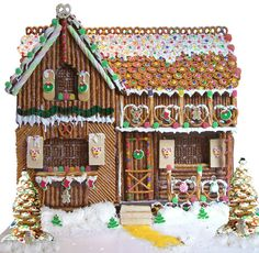 Holiday Pretzel House