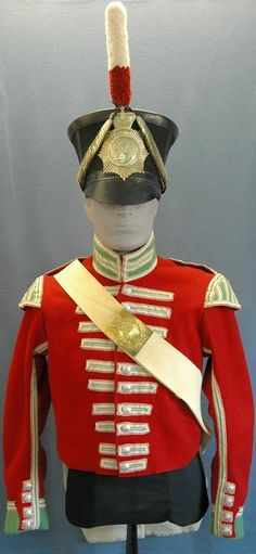 Uniform of a member of the 24th Regiment of Foot Drummer, circa 1830.  Fort Lennox National Historic Site.