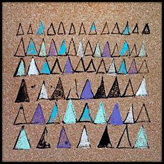ΔΔΔ  cork, pattern, triangles, triangle, Δ, square