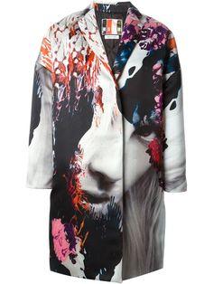 Shop MSGM digital print coat in Gallery from Forte die Marmi, Italy.