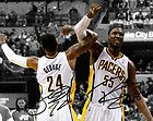 """For Sale - Paul George Roy Hibbert Indiana Pacers Signed 8x10"""" Photo Autograph Reprint"""