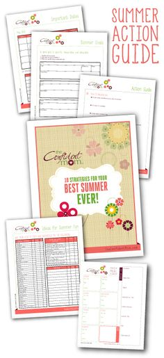Let this summer be your BEST ever! The Confident Mom's Summer Survival Calendar gives you the tools you need to have an amazingly FUN summer with your children and family! :: managingyourblessings.com