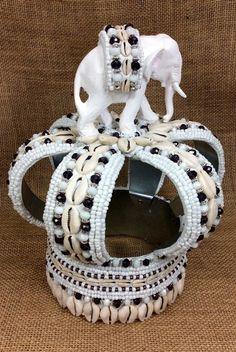 Crown for Obatala Obamoro | OggunOwoCreations.com/ Premium Lukumi beaded artwork accessories
