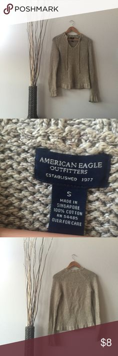 American Eagle Cotton Long Sleeve This sweater is 100% cotton and beautiful on! It looks great with leggings and boots! Smoke and pet free home! Offers Accepted. No damage! No modeling. No trading. No PayPal. 😊 American Eagle Outfitters Sweaters