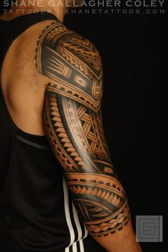 Polynesian maori-shoulder tattoos tattoo modern men by senseisuzukiki
