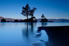 Blue stillness...