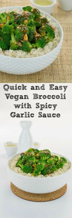 This Quick and Easy Vegan Broccoli with Spicy Garlic Sauce Recipe Will Have You Breaking Up with Takeout! Make the sauce in the morning and then cook in minutes once you get home.