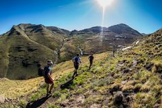 Africa's First Ultra Marathon done right here in Lesotho. Ultra Marathon, Sea Level, Trail Running, Africa, Sky, Mountains, Travel, Heaven, Viajes