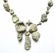Eva Tesarik  Collier: Oceanis Nox 2012  Silver, stones and shells covered with coralline algae  26 x 18 x 3 cm  Detailed view