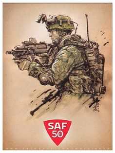 Military Drawings, Military Special Forces, Army Infantry, Military Pictures, Gaming Wallpapers, Modern Warfare, Military Art, Easy Paintings, Back Tattoo