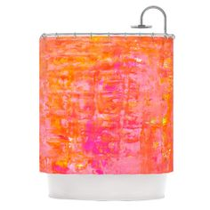 "CarolLynn Tice ""Wiggle"" Orange Shower Curtain 