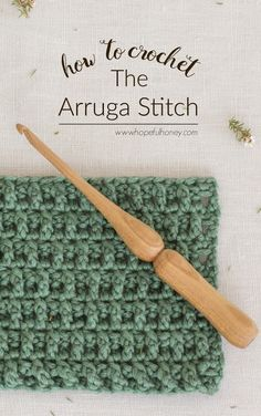 [Free Crochet Pattern] Learn A New Crochet Stitch: The Arruga Stitch