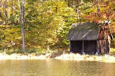 Abandoned Old Boat House Photograph  - Abandoned Old Boat House Fine Art Print $50 #boathouse #autumn #photography