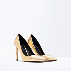 ZARA - SHOES & BAGS - LAMINATED HIGH HEEL COURT SHOE