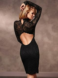 Every woman needs a LBD - Candice Swanepoel In A Sexy Black Dress... Lace... - rossdujour.com