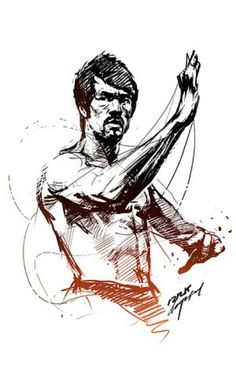 Bruce Lee art www.facebook.com/McDojoLife
