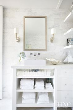Modern White Marble Bathroom