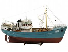 The Billing Boats 1/50 Nordkap Fishing Trawler wooden ship model measures 81cm long, 43cm high and 19cm wide. This wooden boat kit is highly realistic with many fine details.