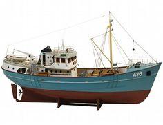 Los barcos de la facturación 1/50 Nordkap Fishing Trawler modelo de barco de madera mide 81 cm de largo, 43 cm de alto y 19 cm de ancho. Este kit de barco de madera es muy realista con muchos detalles finos.