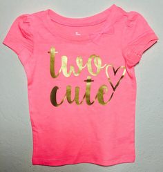 Two Cute Shirt Toddler Shirt Two Year Old Birthday by giggletee