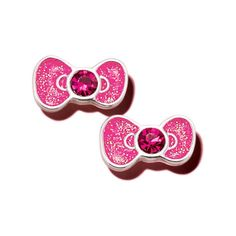 Hello Kitty® Sweetheart Earrings - Adorable pink bow and rhinestone-embellished earrings that match the bow on Hello Kitty's Ear. Regularly $19.99, buy Avon Jewelry online at http://eseagren.avonrepresentative.com