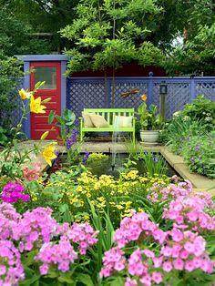 Backyard landscaping/Source: homebnc.com website Landscape Structure, Landscape Design, Landscape Arquitecture, Small Backyard Landscaping, Landscaping Ideas, Stone Landscaping, Backyard Ideas, Backyard Designs, Unique Gardens