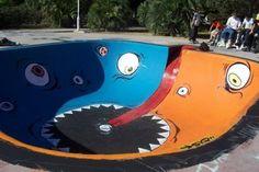 Skate ramp monster